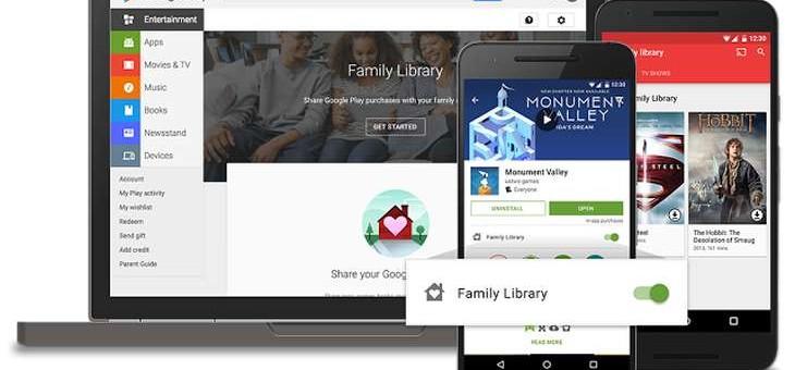 Google lanza la Biblioteca Familiar en Google Play para compartir compras con familiares