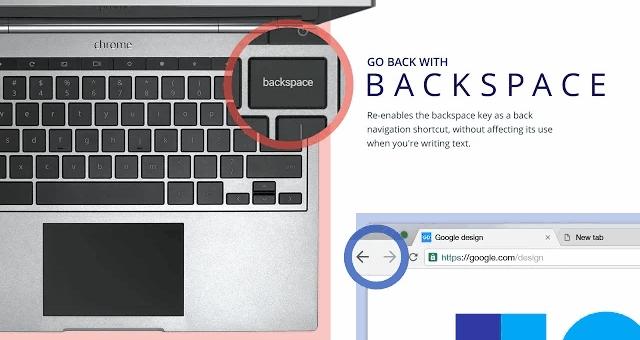 """Extensión oficial de Google para """"volver a la página anterior"""" con la tecla de borrar"""