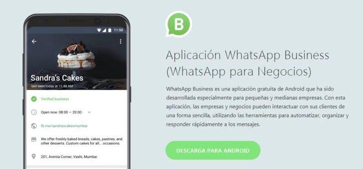 Ya es oficial, Whatsapp lanza aplicación móvil para empresas: WhatsApp Business