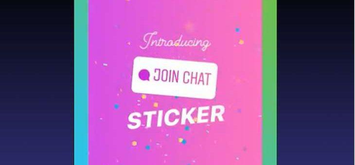 Instagram estrena pegatina para unirse a las conversaciones de chat desde las Stories